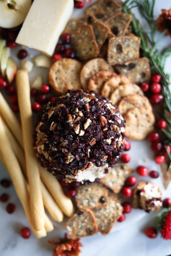 Cranberry Pecan Caramelized Onion Cheeseball
