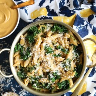 Creamy Butternut Squash Kale Pasta