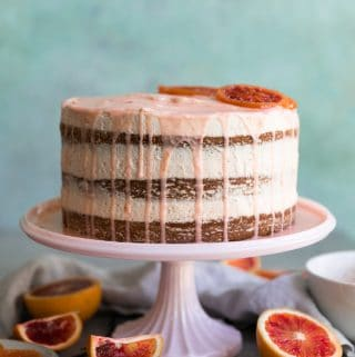Vanilla Bean Blood Orange Cake