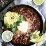 Chipotle Chocolate Turkey Chili