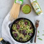 How to Save at Sprouts + Arugula Pesto Pasta with Balsamic Roasted Beets!