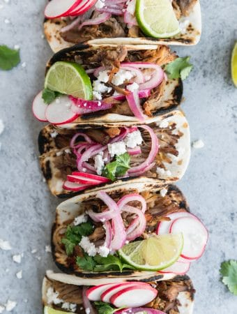 Slow Cooker Carnitas Street Tacos