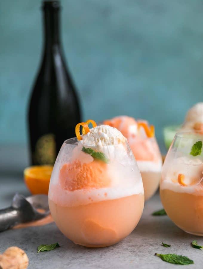 Creamsicle Prosecco Floats