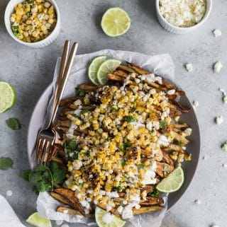 Mexican Street Corn Loaded Fries