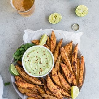 Mexican Sweet Potato Fries with Avocado Aioli