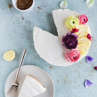 No-Bake Lemon Cheesecake Mousse Pie with Coconut Macadamia Crust