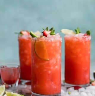 Strawberry Mint Margaritas