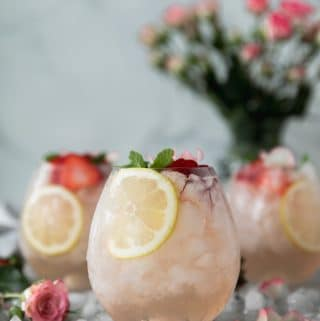 Rosé Lemonade Elderflower Sangria