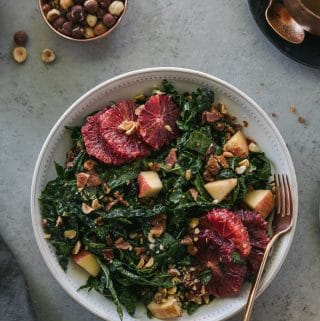Autumn Blood Orange Kale Salad