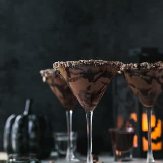 Dark Chocolate Malted Martinis