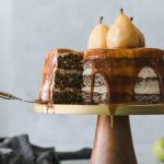 Spiced Pear Cake with Brown Butter Buttercream and Chai Salted Caramel