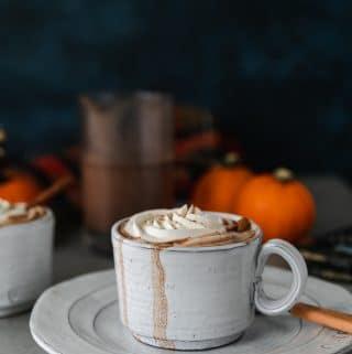 Boozy Pumpkin Pie Hot Chocolate