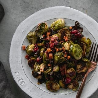Cranberry Maple Pancetta Brussels Sprouts