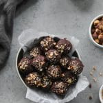 Healthy Nutella Sea Salt Truffles