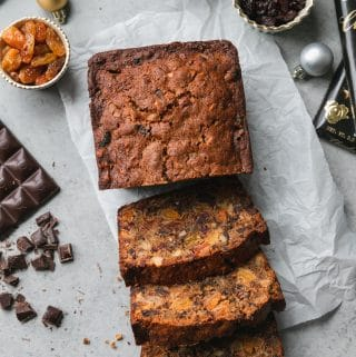 Dark Chocolate Fruitcake