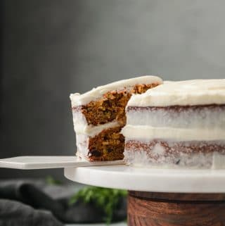 My Favorite Simple Carrot Cake + My 5 Year Blogiversary!
