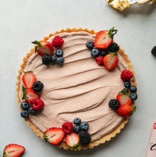 Ruby Cacao Cheesecake Tart with Berries