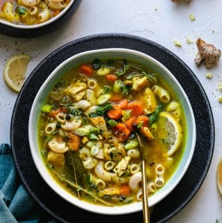 Ginger Lemon Chicken Noodle Soup