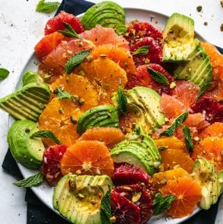 Citrus Avocado Salad with Pistachios and Mint