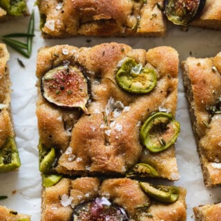 Fig Olive Rosemary Whole Wheat Focaccia